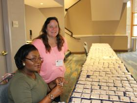 NACRJ Volunteers Preparing 550 Badges