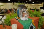Center Piece in the Main Hall with Personal Items from Attendees