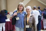 Heart Phoenix (right) with Colleague at the Conference