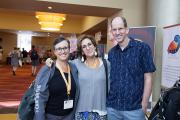 2017 Conference Attendees - Dr. Mara Schiff, VP (Center) with Dr. David Karp, Board Member and other attendee