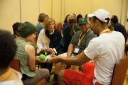 Passing the Talking Piece in Small Group during the Workshop Session on Race