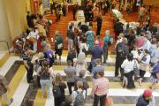 2017 Conference Attendees at Serving Line for Lunch