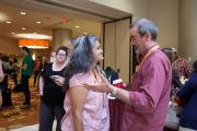 Carl Stauffer and sujatha baliga in discussion