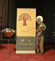 Musician Val Serrant with Conference Logo