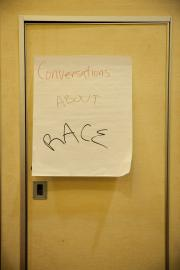 Sign on Door at a Workshop on Race
