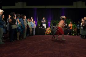 Martin Martinez and Red Road Dancers - Pomo Blessing at Closing