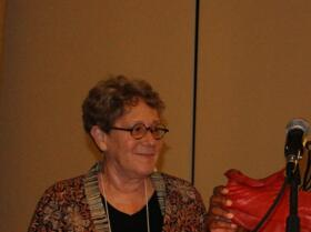 """Cheryl Graves and Ora Schub share a Funny Story about Dennis Maloney """"Oversized Leprechan and his Shoe"""""""