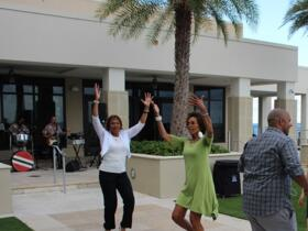 Fania Davis - in Green - and Others Dancing at the Reception - May 31, 2015