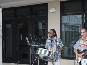 Great Carribean Music at the Reception