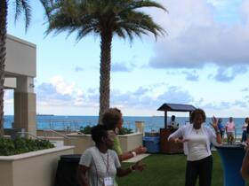 Dancing at the Patio Reception on May 31, 2015