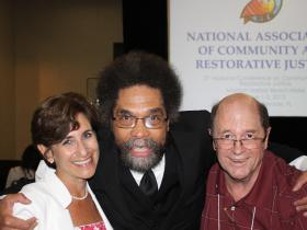 Dr. West with Conference Organizers Mara Schiff and Mike Gilbert