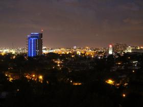 City View at Night from the Hotel