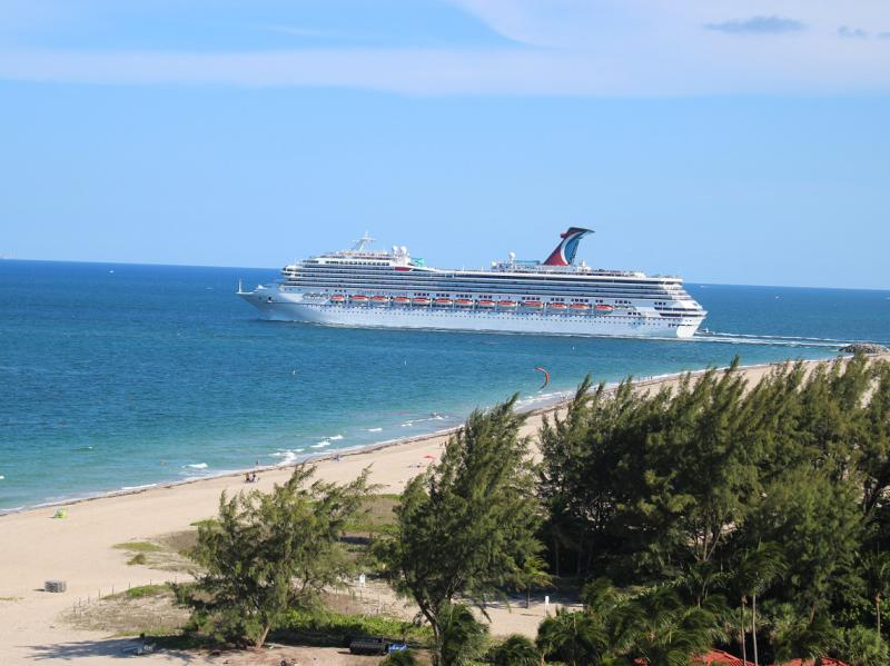 Carnival Cruise Ship Heading out to Sea