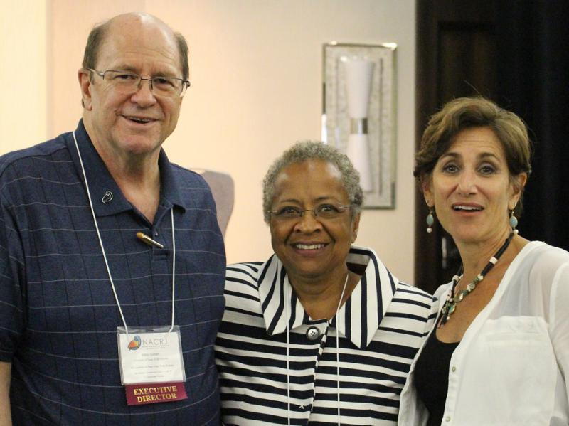 Prof. Margaret Burnham with Mike Gilbert and Mara Schiff
