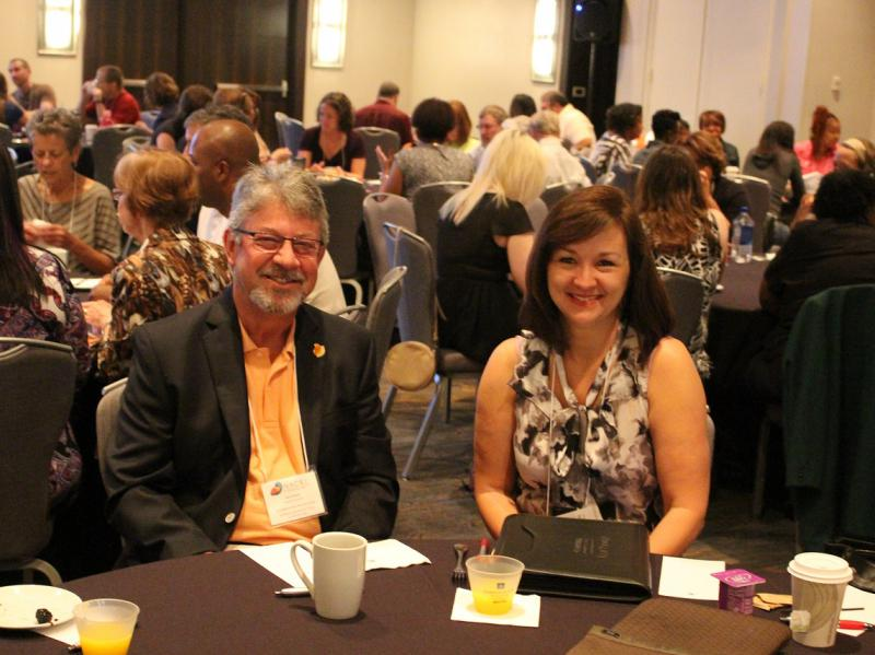 John Powell, Lead Organizer 2011 and Joia Caron from Campbell University Law School