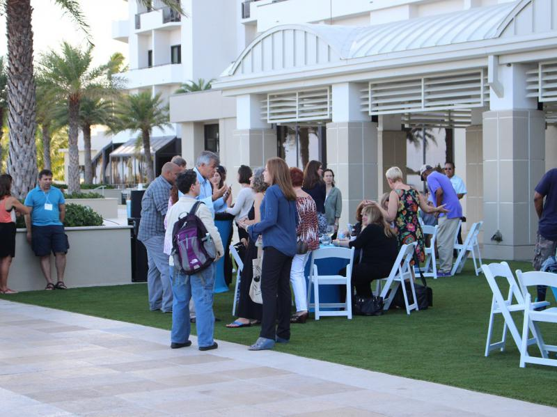 Patio Reception at the Harbor Beach Marriott Resort and Spa