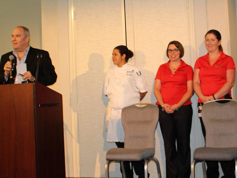 Mark Thaler Introduces Key Hotel Personnel for Recogition at Closing Session