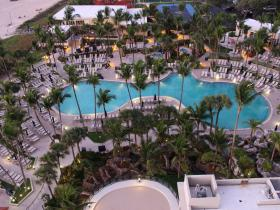 The Main Pool Early Morning -- 10th Floor View