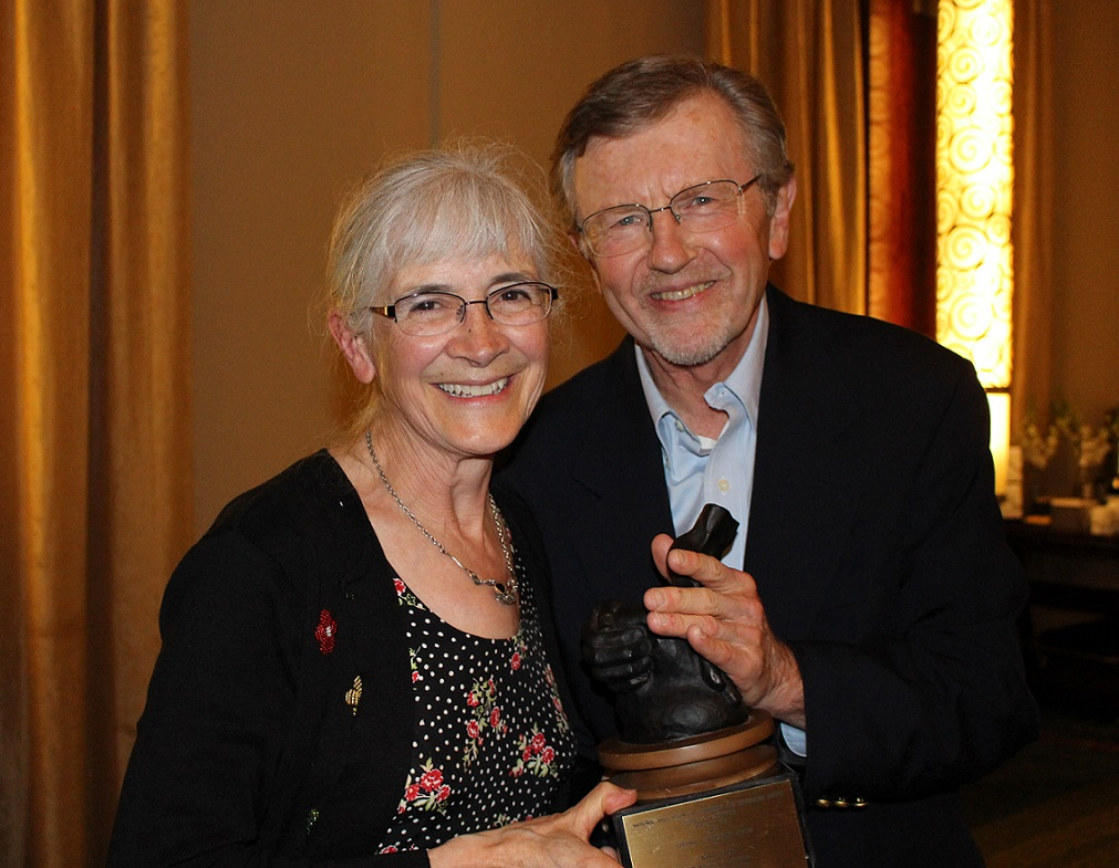 IMG 2048 RSG Cropped Kay Pranis Receives the Lifetime Achievement Award from Pres. Umbreit