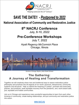 NACRJ 2022 Conference Save the Date Flyer